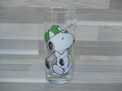 Vintage collection water glass Peanuts Snoopy golf player