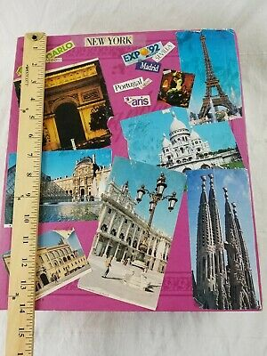 vintage 1990's vacation scrapbook New York Euro Disney Portugal photographs huge