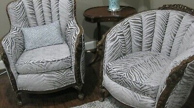 pair antique arm chairs his and hers parlor chairs
