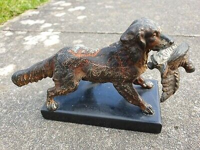 Cold Painted Bronze retriever /Springer Spaniel grouse Austria mounted