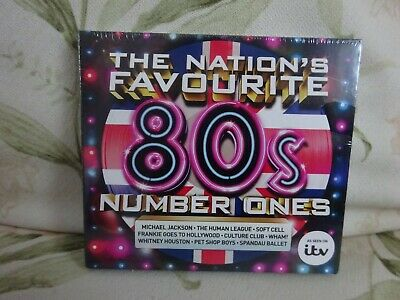 The Nation's Favourite 80s Number Ones - Various Artists Cd -New-free uk Postage