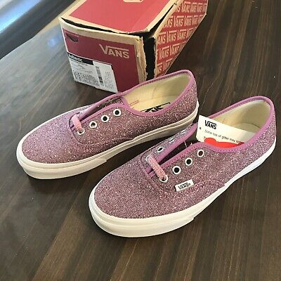 fccc7673f0cf NEW Vans Authentic Lurex Glitter Pink/True Women's Skate Shoe Women's 7  Men's5