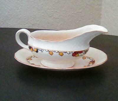 Furnivals made in England - Rare Vintage 1913 Gravy Sauce Boat and Under plate