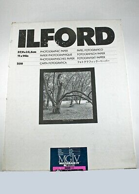 195728 Box of 163 Sheets *EXPIRED* Ilford MGIV 11x14 Glossy B&W Photo Paper