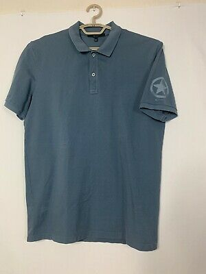 daa5cc314ccd Mens Gucci Polo shirt XXL Made In Italy Gray Blue Star Emblem On Sleeve 2XL