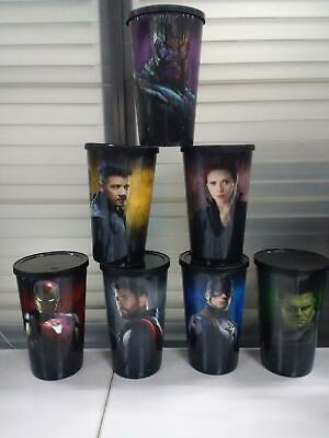 AVENGERS End Game RARE GUINNESS WORLD RECORDS 7CUP´S32oz MOVIE CINEPOLIS MEXICAN