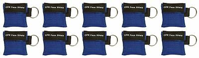 10pc CPR Mask Keychain Emergency Kit CPR Face Shields for First Aid AED Training