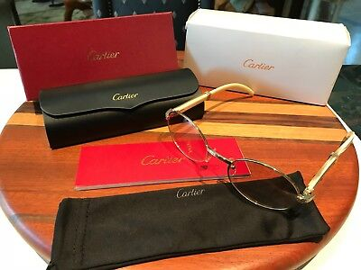 Authentic Vintage Cartier White Buffalo Horn Sunglasses *Rare Must See!*