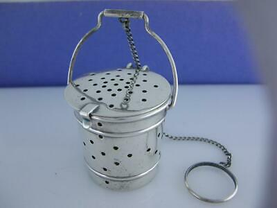 Rare Sterling G.H FRENCH & CO GHF Tea Ball - Bucket shape
