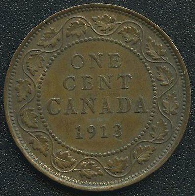 1913 Canada Large Cent Coin ( King George V )