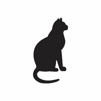 Vinyl Decal Sticker Cat and Mouse Outline Multiple Color /& Sizes ebn143