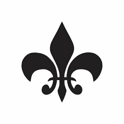 Fleur De Lis - Vinyl Decal Sticker - Multiple Color & Sizes - ebn318
