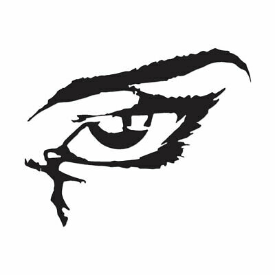 Multiple Color /& Sizes Eyes Cartoon Angry Vinyl Decal Sticker ebn278