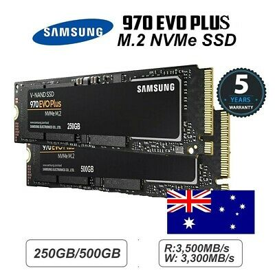Genuine Samsung 970 EVO Plus M.2 NVMe SSD 250GB/500GB Warranty 5 Years