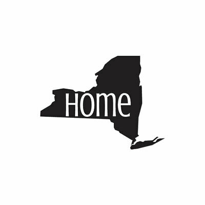New York Home State - Vinyl Decal Sticker - Multiple Colors & Sizes - ebn3834
