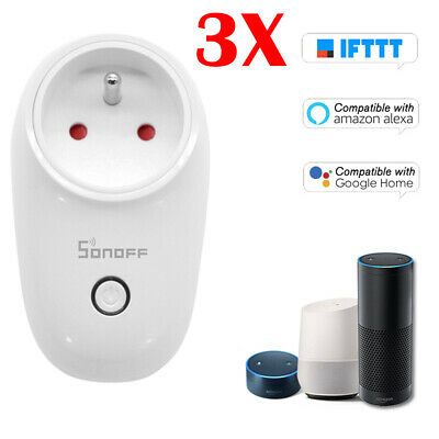 3X Sonoff S26 Type E Plug WIFI Smart Socket Wireless Timer Fr Alexa/IOS R3Z0