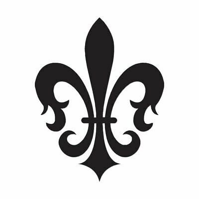 Fleur De Lis Art - Vinyl Decal Sticker - Multiple Color & Sizes - ebn864