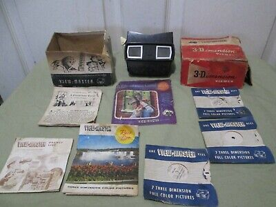 Vintage View Master 3-Dimension Viewer Model E. Includes reels & inserts. AS-IS.