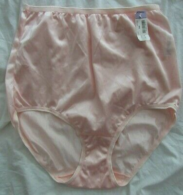 5a608af2abb0 Vintage ADONNA JCPenney Size 9/2XL PEACH SHINY SATIN Brief Panties NWT