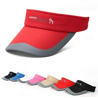 Fashion Tennis Sports Adjustable Sun Visor Golf Cap Headband Hat Beach Vizor ED