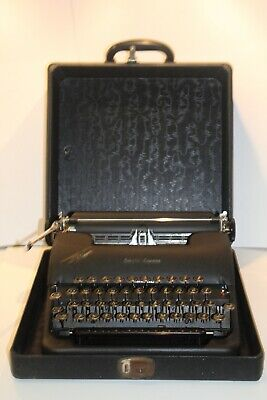 C1930'S Art Deco Smith - Corona Clipper Cased Typewriter