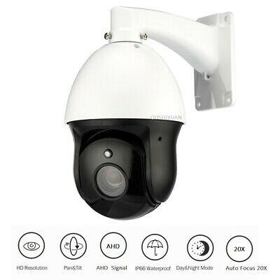 CCTV Security HD1080P AHD PTZ Camera Speed Dome Lens Optical Auto Focus 20X IP66