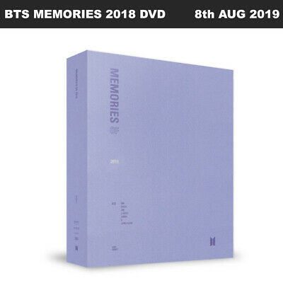 BTS MEMORIES OF 2018 DVD Photobook+4Discs+P.frame+Wallscroll+Tracking+BOX pack