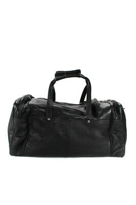 New Latico Leather Duffle Travel Weekend Bag Black S/M $298