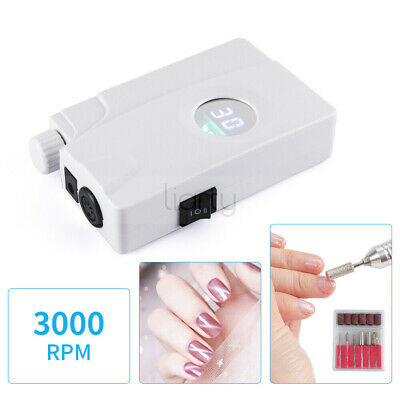 Portable Rechargeable 30000RPM Electric Polisher Nail Manicure Machine Art Drill