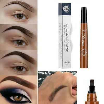 4 Tip Fork Microblading Eyebrow Pencil Tattoo Pen Waterproof Last Makeup