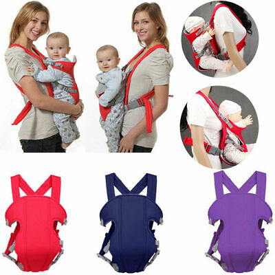 CA STOCK Casual Newborn Baby Carrier Breathable Adjustable Wrap Sling Backpack
