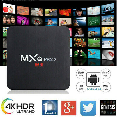 2019 Ultra HD MXQ PRO 4K Android 7.1 Streaming media player TV Box With Keyboard
