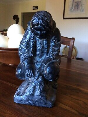 Al Wolf Canada. Beautiful Carving of an Inuit (Eskimo) Woman and Child