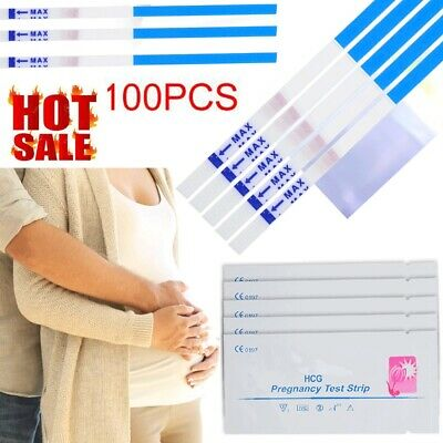 100pcs Pregnancy Test Strips Ultra Early HCG Urine Testing Kits Home Test Strips