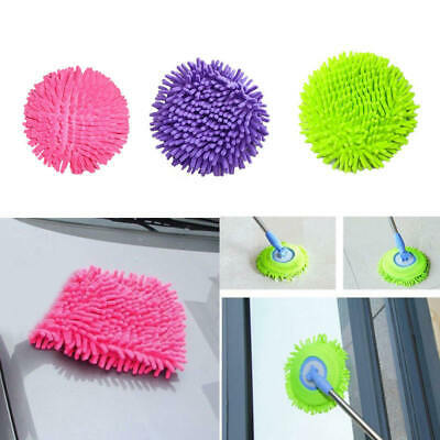 360° Floor Cleaner Microfiber Chenille Mop Head Replaceable Mops Top 1pc NQY