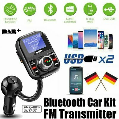 Digital Autoradio DAB+ Empfänger Bluetooth FM Transmitter USB Adapter+Antenne DE