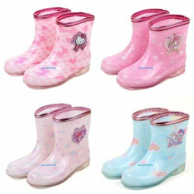 Sanro Hello Kitty My Melody Bonbon Jewelpet Pvc Child Rain Boots- Usa Seller