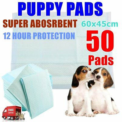50x SUPER ABSORBENT PUPPY TRAINING PAD TOILET PEE WEE MAT DOG CAT DIAPER AQ