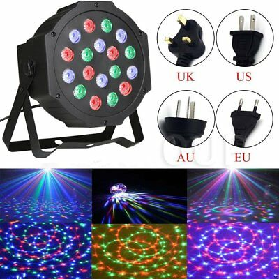 18 LED RGB Stage Light DMX512 Par CAN DJ Disco Uplighter Lighting Effect S bs