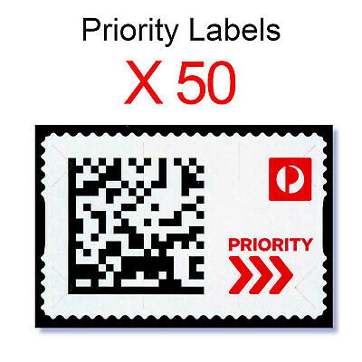 Priority Labels - 50 Pack - Postage Mail Faster Delivery Australia