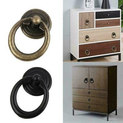 Simple drawer small handle cabinet door wardrobe single round hole pull rin N9J3