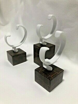 Set of 3 Quality Watch Stand Displays Brown Snake Effect