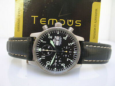 Fortis Flieger Chronograph 597.10.141 Box & Papers Automatic Day-Date Watch