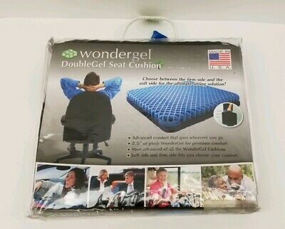 "Wondergel Doublegel Gel Seat Cushion Office Truck Cool Original- 2"" of Cushion"