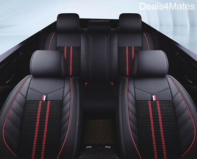 For Mercedes Black Fabric Leatherette Luxury Breathable Full Set Car Seat Cover