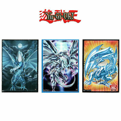 YUGIOH SLEEVES: BLUE-EYES WHITE DRAGON 50pcs | OVP YGO Sleeve Cards Hüllen Blau