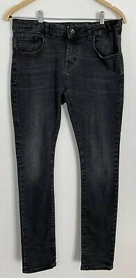 Zara Boys Faded Skinny Fit Black Jeans Aged 11-12 Years