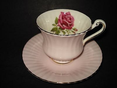 PARAGON PINK Bone China TEA CUP & SAUCER Red Cabbage Rose Flower Floral ENGLAND