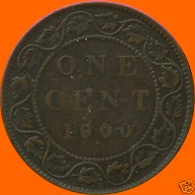 1900 'H' Canada Large Cent Coin
