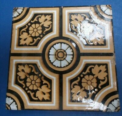 Edwardian Brown Cream White Encaustic Tile by Brick & Tile Co Stoke on Trent 15.